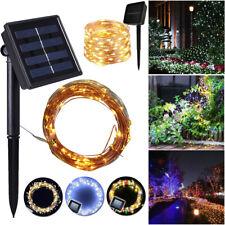 50/100/200 LEDs Solar Power Fairy Lamp Outdoor Garden Party Wedding Decor Lights