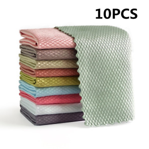 Easy Clean Fish Scale Microfiber Polishing Cleaning Cloth for Household Cleaning