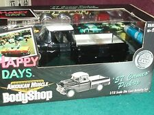 "ERTL 1957 CHEVY CAMEO HAPPY DAYS ""BODY SHOP"" ASSEMBLY MODEL KIT 1/18 VHTF"