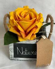 Artificial Silk Flower Pot Arrangement Decor Gift Get Well Mum Nan Rustic Faux