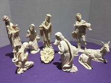 Christmas Nativity Set 10 Piece Crushed Marble Matt Finish by Valentino