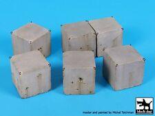 Black Dog 1/35 Israeli IDF Sharp-edge Concrete Cube Roadblocks (6 pieces) D35091