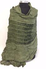 NEW Fashion Women/Men's Solid Cotton Linen Scarf Shawl Stole Wrap PASHMINA Green