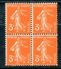 STAMP / TIMBRE FRANCE NEUF N° 278A ** EN BLOC DE 4 /// SEMEUSE