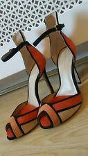 Zara Art Deco 20's 30's Suede Mary Jane Killer Heels shoes Size 38