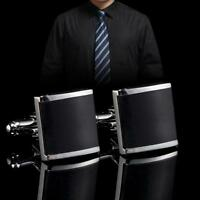 Men Deluxe Silver Shirt Cufflinks Stainless Steel Wedding Business Cuff Link zw