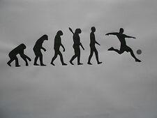 Schablone Evolution Fussball auf A4