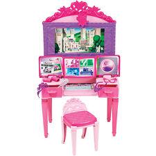 Barbie Principessa VANITY Power Play Set Accessori Regalo Bambine Bambini Divertente Regalo