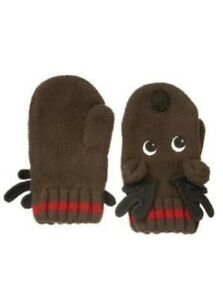 GYMBOREE ALPINE PATROL BROWN REINDEER SWEATER MITTENS 0 12 24 2T 3T 4T 5T NWT