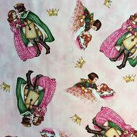 FF115 Princess Prince Fairytail Happily Ever After Cotton Fabric Quilt Fabric