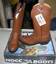 NOCONA COWBOY BOOTS 7020 MENS SIZE 9 BROWN NEW IN BOX FREE SHIPPING