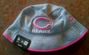 CHICAGO BEARS TODDLER BUCKET HAT BY NEW ERA, PINK, GRAY, NEW WITH TAGS