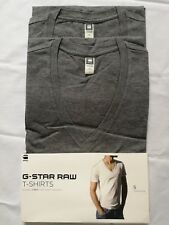 G-STAR 2-Pack T-shirt  V-Neck SHORT SLEEVE  REGULAR FIT taille:S Gris G Star