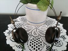 Vintage Red Seal Telephone and Telegraph Headset Headphone