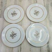 Encanto Nagoya Shokai Gray Rose Japan Dinner Plates Set Of 4