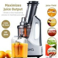 SKG Wide Chute Anti-Oxidation Slow Masticating Cold Press Juicer 2088  (Silver)