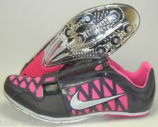 New Nike Zoom Long Jump LJ 4 Track & Field Shoes Spikes Size 13 Black Pink