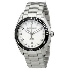 Emporio Armani White Dial Stainless Steel Mens Watch ARS9003
