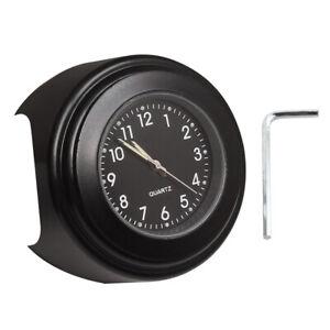 Waterproof Motorcycle Clock 22-25mm Handlebar Watch Luminous Quartz Clock