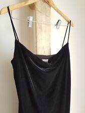 Vintage 80s 90s Black Velvet Full Length Formal Prom Dress