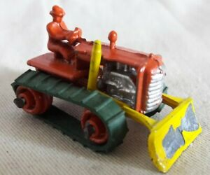 Vintage Benbros TV Series Diecast No.10 Orange & Yellow Bulldozer 1950s/60s