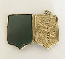 Fine Antique Victorian 9ct Gold B & F  - Scottish Agate / Photo Locket Pendant