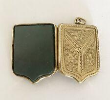 Fine Antique Victorian 9ct Gold B & F  - Scottish Agate / Photo Locket Pendant