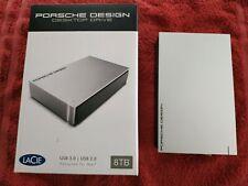 HARD Disk HDD 8tb Lacie PORCHE DESIGN for MAC o PC, Colore argento molto bello