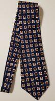 Polo Ralph Lauren 100% Silk Neck Tie Blue w/Square Designs