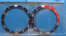 =  2pcs Pepsi & BLACK BEZEL Insert made for Seiko Diver 6309 7002 7S26-0020