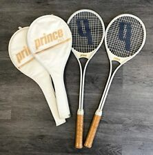 PRINCE PRO SQUASH RACKETS VINTAGE 1988 SET OF 2 UNUSED IN ORIGINAL COVERS