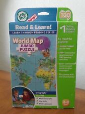 Leap Frog Tag Reading System Interactive World Map 2 Sided 30+ Activities New