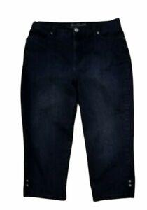 Gloria Vanderbilt Womens All Around Slimming Effect Amanda Capris Jeans Sz 12