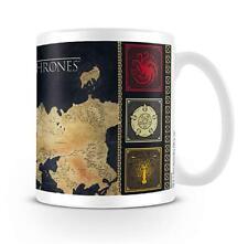 Game of Thrones Tasse Karte Westeros Sieben Königslande - Häuser Wappen Becher