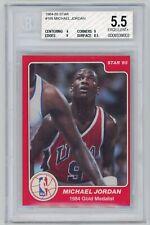 1984-85 Star Michael Jordan #195 Rookie Card RC BGS 5.5 1984 Olympic