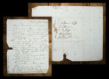 1832 Letter from Strasbourg via Bar-le-Duc to Longeville Manuscript letter
