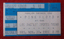 PINK FLOYD CONCERT TICKET Stub 1987 Los Angeles CA 11/27/87 LA SPORTS ARENA
