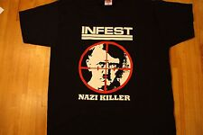INFEST T-shirt size XXL spazz neanderthal crossed out