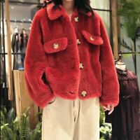 Loose Winter Jacket Women's Fashion Fur Coat Sweater Warm Outdoor Clothes Outfit