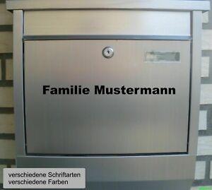 Briefkasten Namens Aufkleber - Wunschtext Aufkleber Haustür Fenster Tür Namen Do
