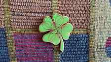 Dead Head Steal Your Luck Irish 4 Leaf Clover Enamel Lapel Hat Pin