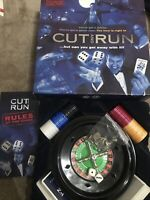 CUT AND RUN -The Casino Board Game Gamble High Stakes Roulette Wheel Cards Dice
