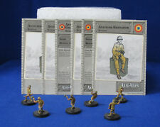 Axis & Allies Miniatures SET II 6 Antitank Grenadiers & Stat Cards RO5 #44/45 G