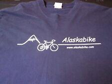 Bicycle Bike Alaska Large Navy Blue T-shirt Large (42-44) U5