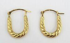 Patterned Hoops Hoop Earrings Rope Twist Sale Solid 10k Yellow Gold U shape Oval