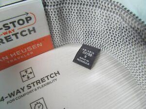 NWT VAN HEUSEN 4-WAY STRETCH QUICK DRY LNG SLV DRESS SHIRT, French Grey Print