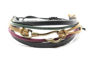 Pirate Skull Fashion Style Jewelry Cute Leather Charm Bracelet Bangle DIM198