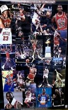 "MICHAEL JORDAN Vintage 1998 Chicago Bulls ""Collage"" Basketball Poster (Mint new)"