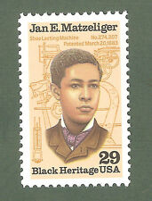 2567 Jan Matzeligar Us Single Mint/nh Free Shipping
