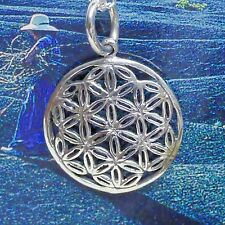 mini Blume des Lebens 925 Silber Anhänger HARMONIE Kraftamulett besonders fein